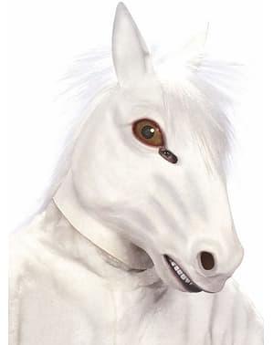 Máscara de cavalo branco