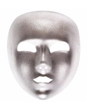 Maska stříbrná hladká