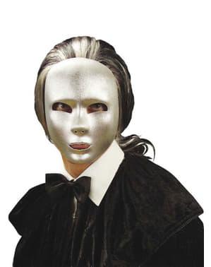 Gesichtsmaske glatt in Silber