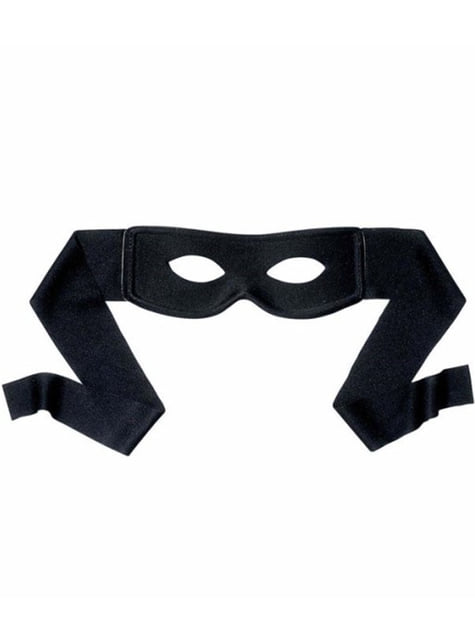 Black bandit eye mask
