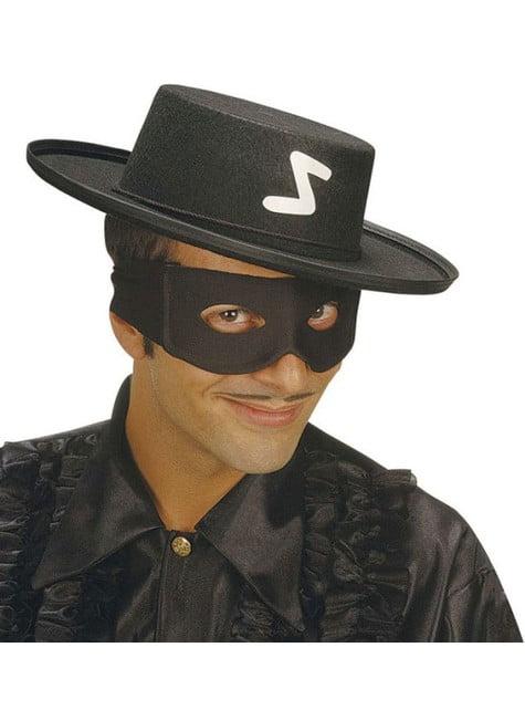 Antifaz de bandido preto