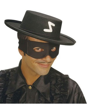 Antifaz de bandido negro