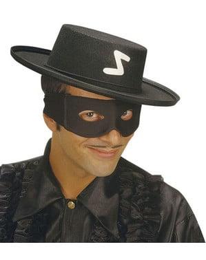 Zwart bandieten oogmasker