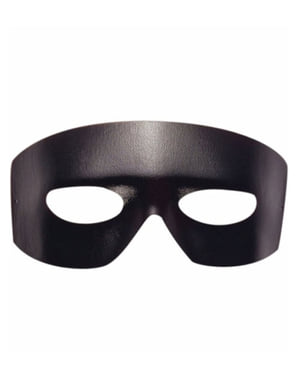 Black bandit leather effect eye mask