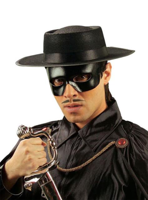 Antifaz de bandido imitação pele