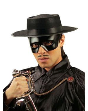 Zwart bandieten oogmasker met leereffect