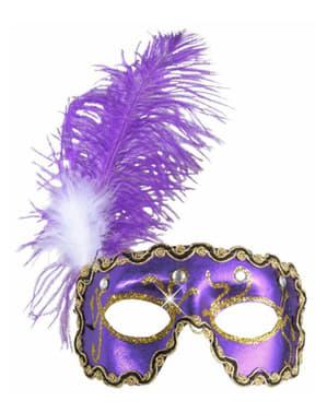 Paars venetiaans oogmasker