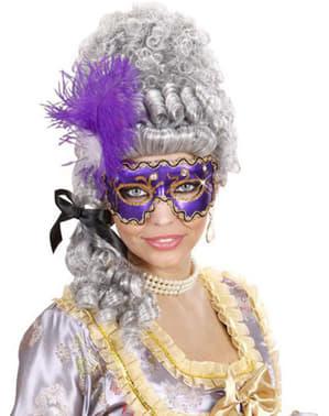 紫色のベネチアンマスク