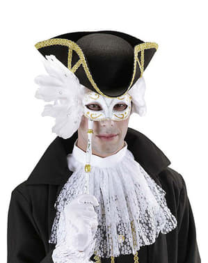 Masque vénitien blanc avec branche