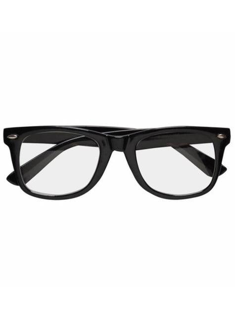 Hipster Brille Schwarz 24h Versand Funidelia