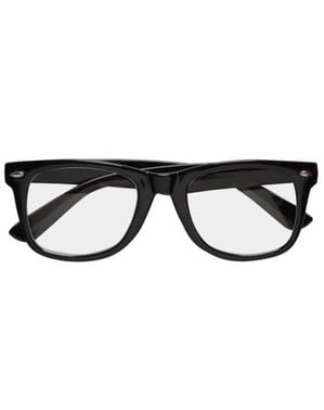 Hipster black glasses