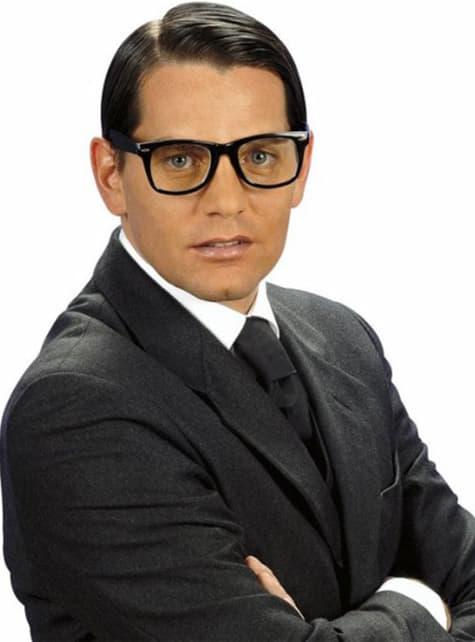 Hipster Brille schwarz