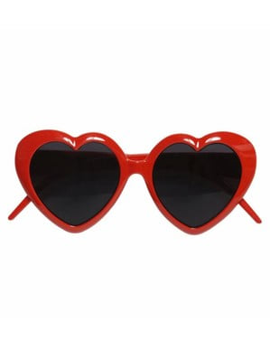 Brille mit Herzen rot