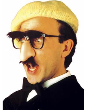 Óculos com nariz, bigode e sobrancelhas