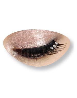 Svarta ögonfransar med strass