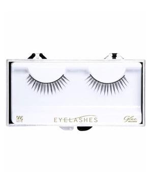 Separate black eyelashes