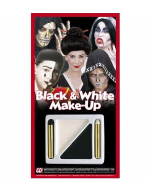 Set de Maquilhagem branco e preto