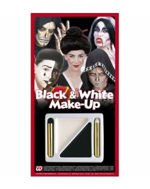 Sæt med sort og hvid makeup