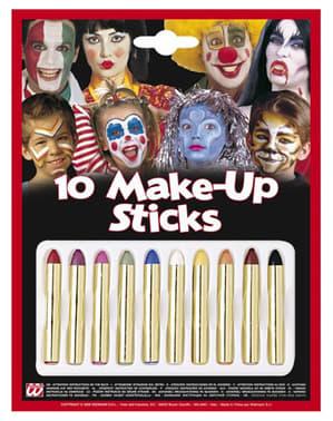 Multifarvede makeupstifter