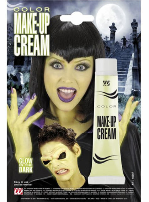 Fluorescent cream makeup