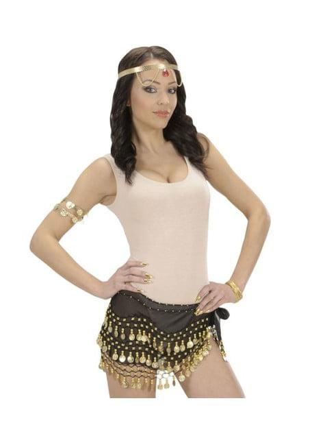 Μαύρο χορεύτρια της κοιλιάς ζώνη