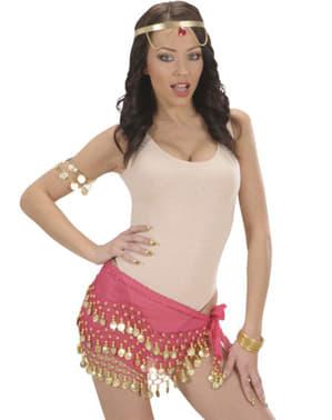 Ροζ χορεύτρια της κοιλιάς ζώνη