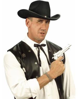 Kovbojská kravata s mašlí saténová černá