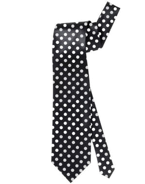 Cravată neagră cu buline