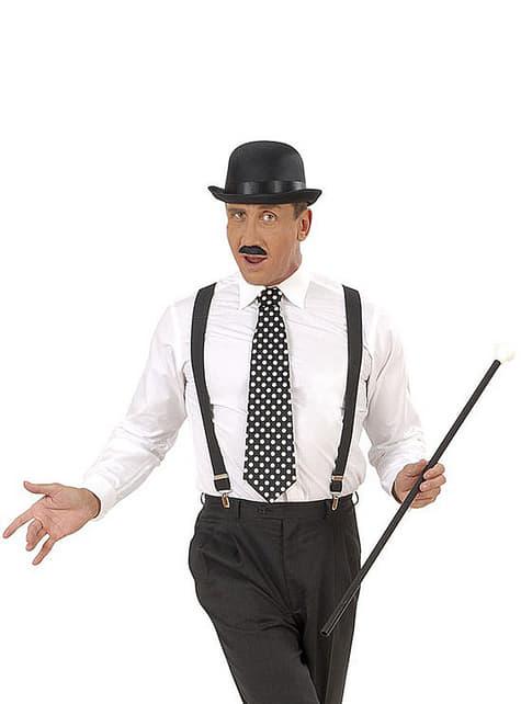 Corbata negra de lunares - para tu disfraz