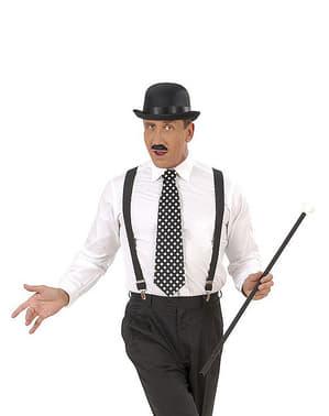 Polka-dot svart slips