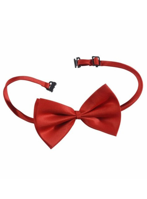 Adjustable red bow tie