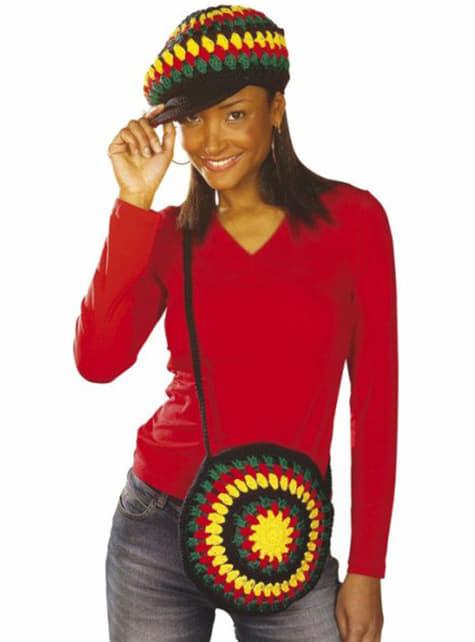 Rastafari horgolt táska
