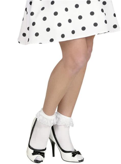 Biele ponožky s volánkami