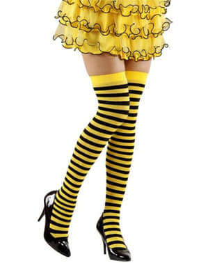 Wasp striped hold up tights