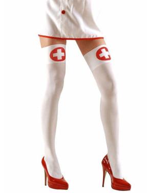 Witte kousen verpleegster