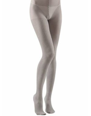Silver tights with glitter