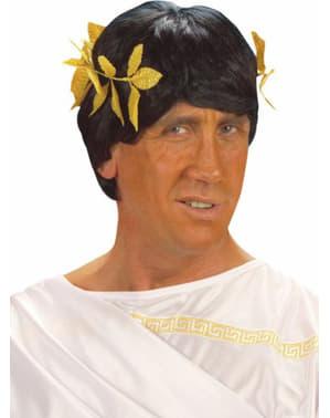 Corona romana de laurel dorada