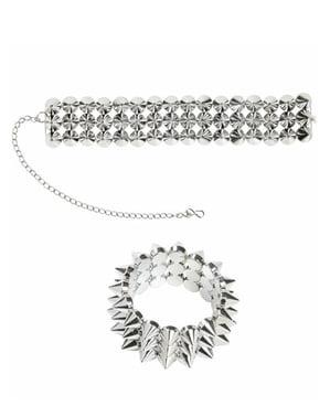 Collier et bracelet à pics