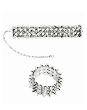 Spiky Necklace and Bracelet