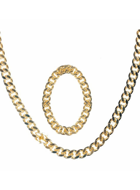 Gold chain and bracelet