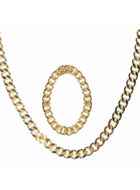 Guldkæde og armbånd