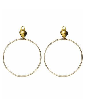 Guldiga örhängen smala ringar