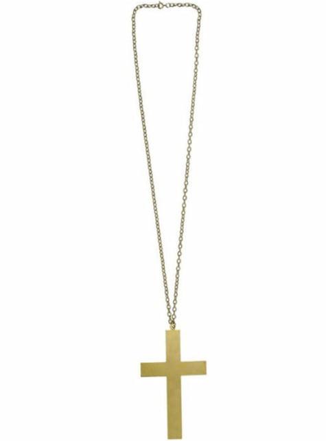 Collar con cruz dorada