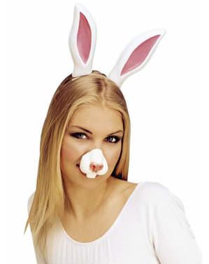 Nariz de conejo con dientes