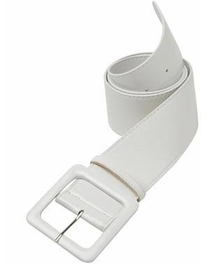 Cinturón blanco de vinilo