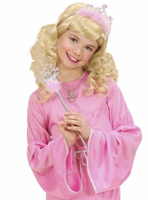 Pink princess tiara and sceptre
