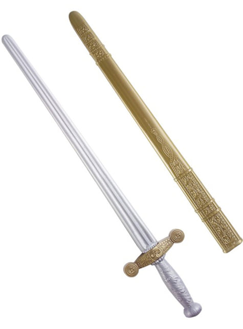 Silver and bronze knight sword