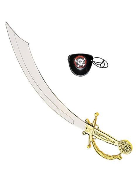 Pirat Schwert und Augenklappe