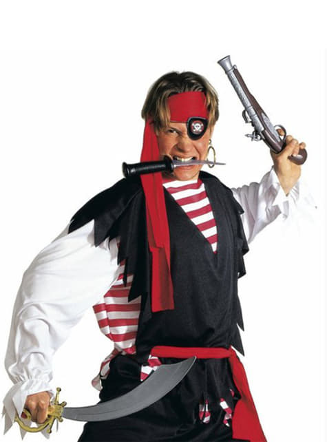Szabla pirata i opaska na oko