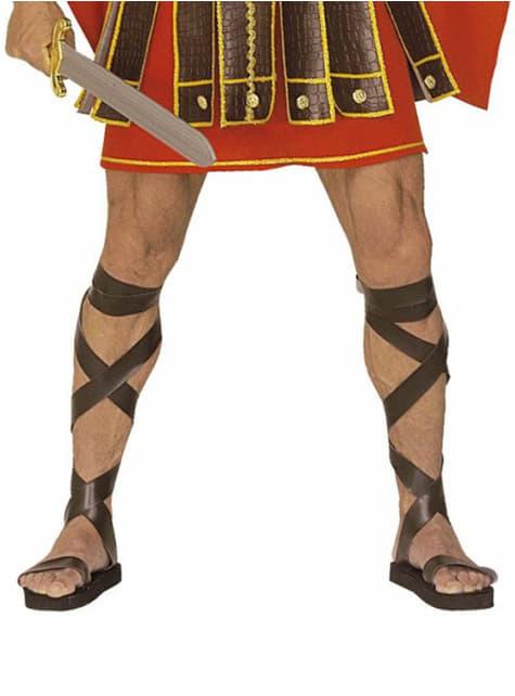 Leather effect Roman sandals